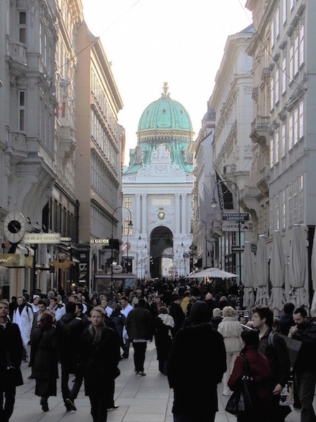 On the way to Hofburg