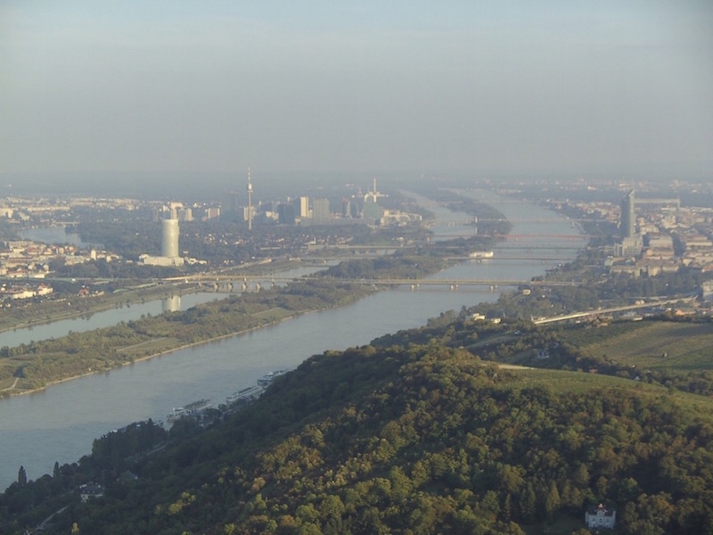 On the top. Donauinsel is dividing the Danube
